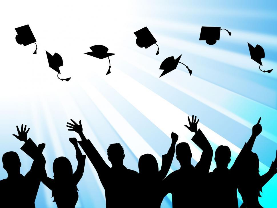 Download Free Stock HD Photo of Education Graduation Means Educate Study And Tutoring Online