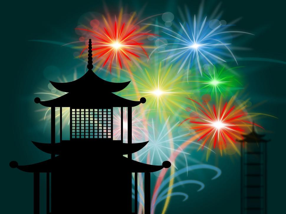 Download Free Stock HD Photo of Pagoda Silhouette Means Tower Shrine And Asian Online