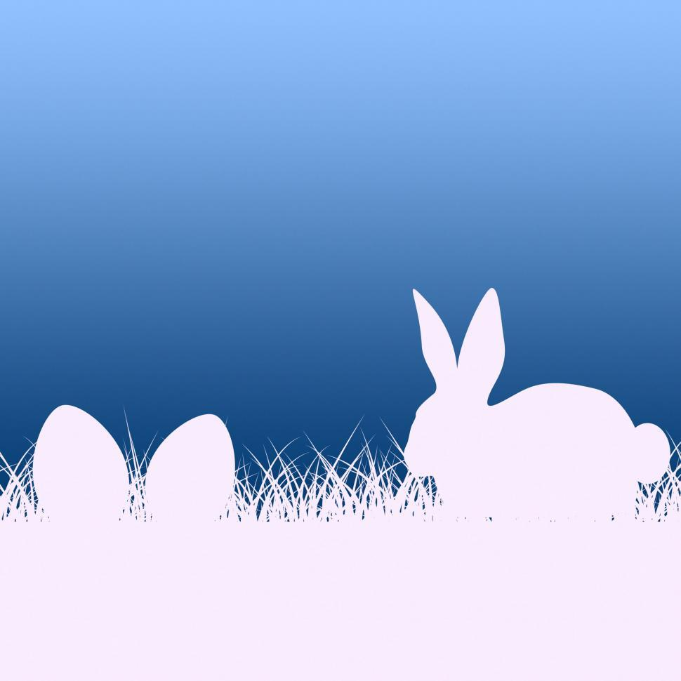 Download Free Stock HD Photo of Easter Egg Represents Bunny Rabbit And Copy Online