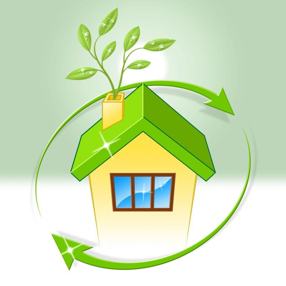 Download Free Stock HD Photo of House Eco Indicates Earth Day And Building Online