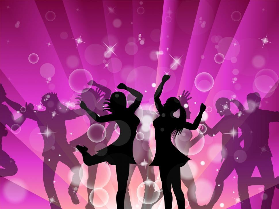 Download Free Stock HD Photo of Disco Women Indicates Dance Discotheque And Female Online