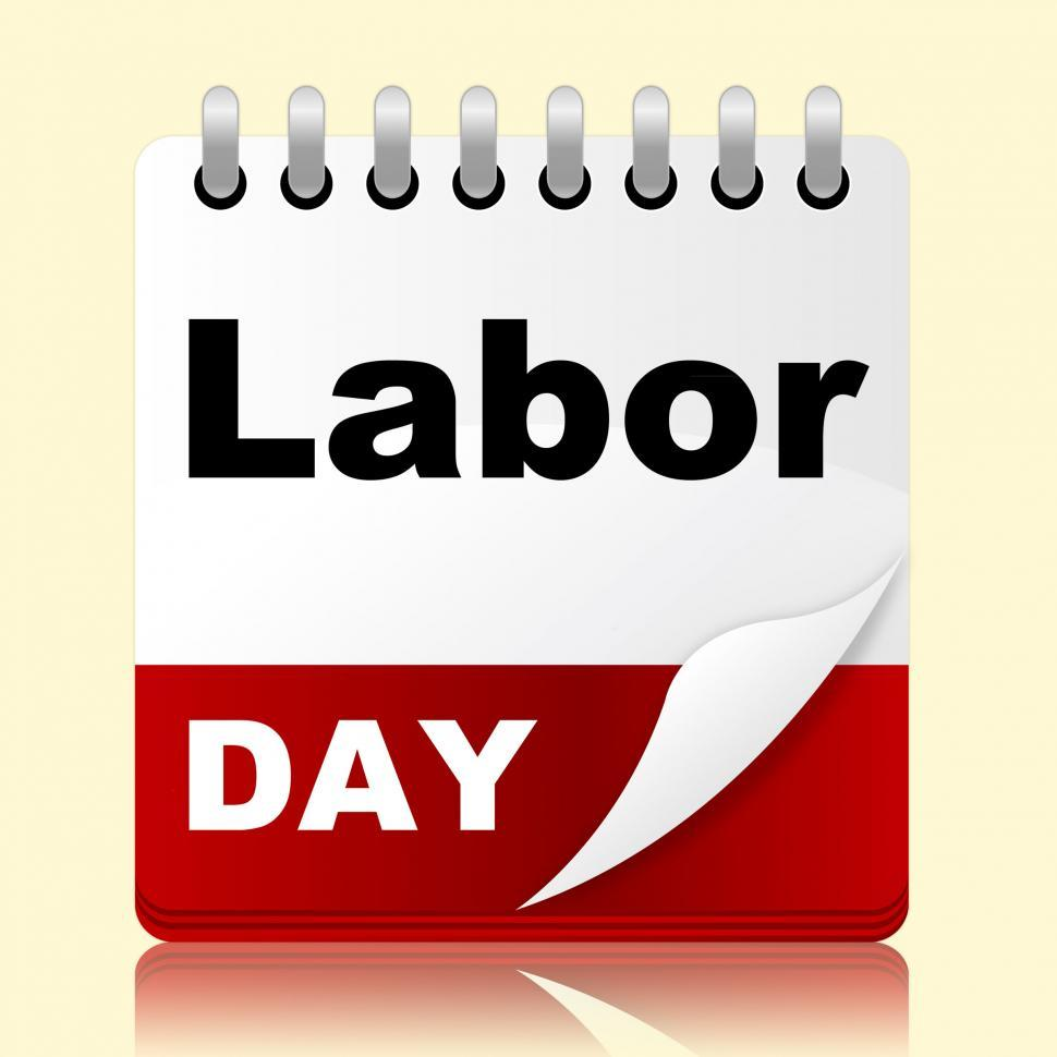 Download Free Stock HD Photo of Labor Day Shows Holiday American And Patriotism Online