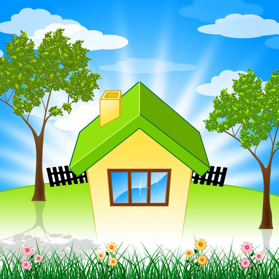 Download Free Stock HD Photo of Summer House Shows Property Home And Houses Online