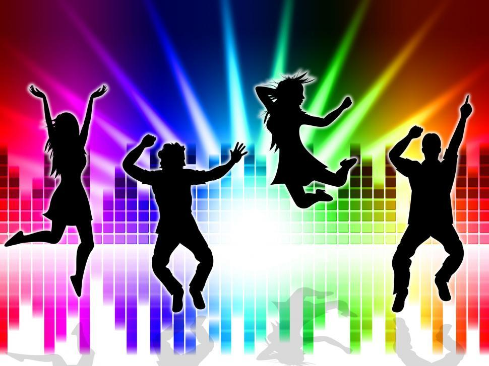Download Free Stock HD Photo of Music Excitement Indicates Sound Track And Dancing Online