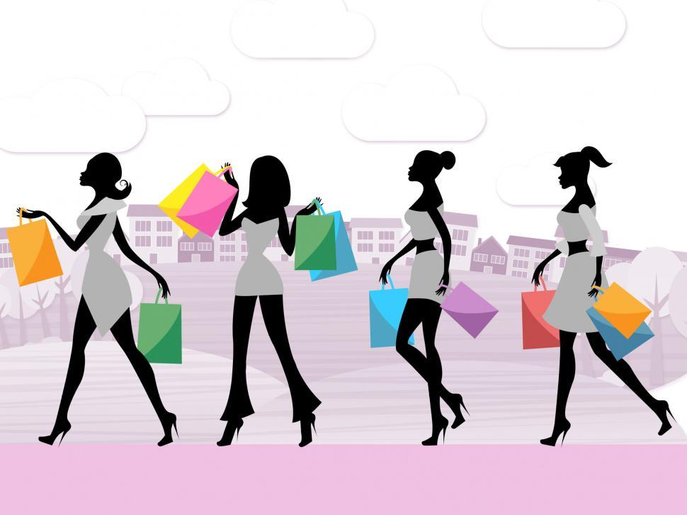 Download Free Stock HD Photo of Women Shopping Shows Commercial Activity And Adult Online