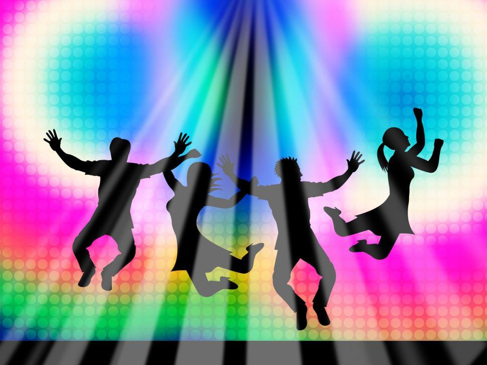Download Free Stock HD Photo of Jumping Joy Represents Light Burst And Happy Online