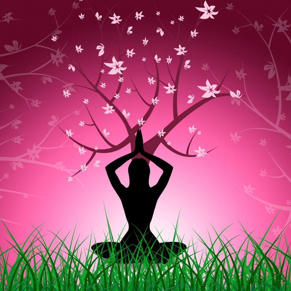 Download Free Stock HD Photo of Tree Yoga Shows Love Not War And Branch Online