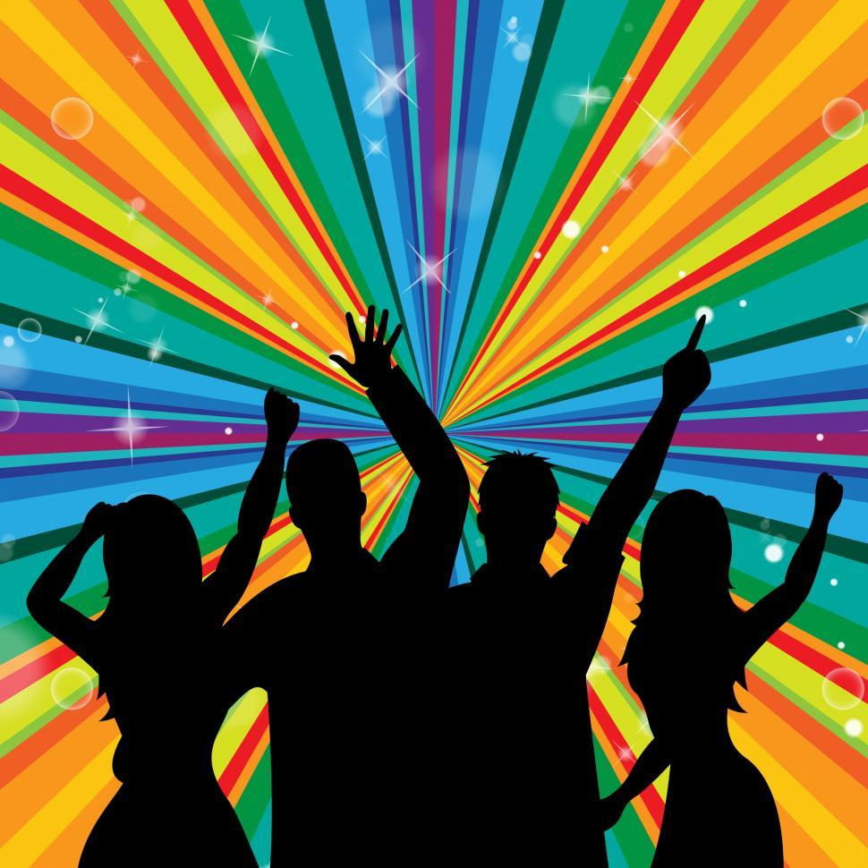 Download Free Stock HD Photo of Disco Dancing Indicates Discotheque Joy And Parties Online