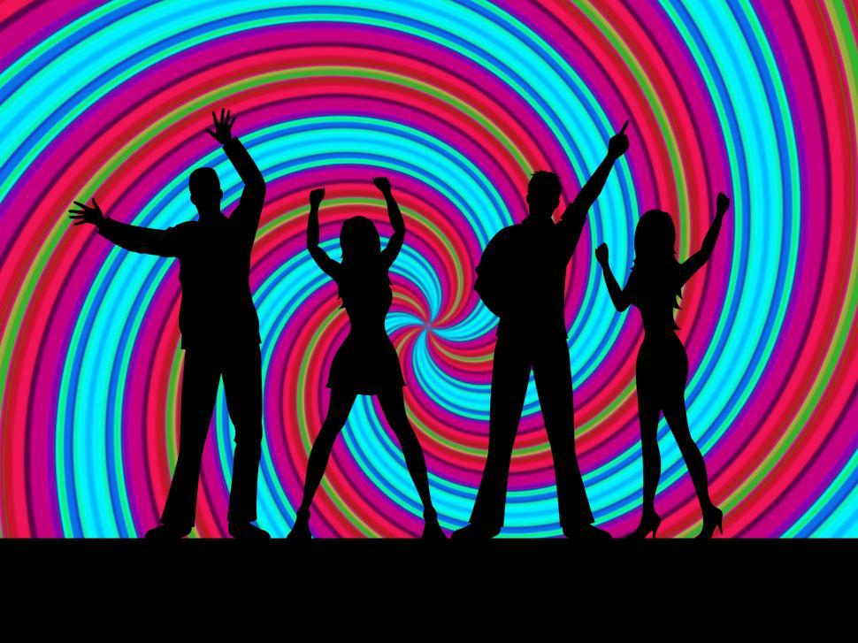 Download Free Stock HD Photo of Dancing Silhouette Indicates Disco Music And Dance Online