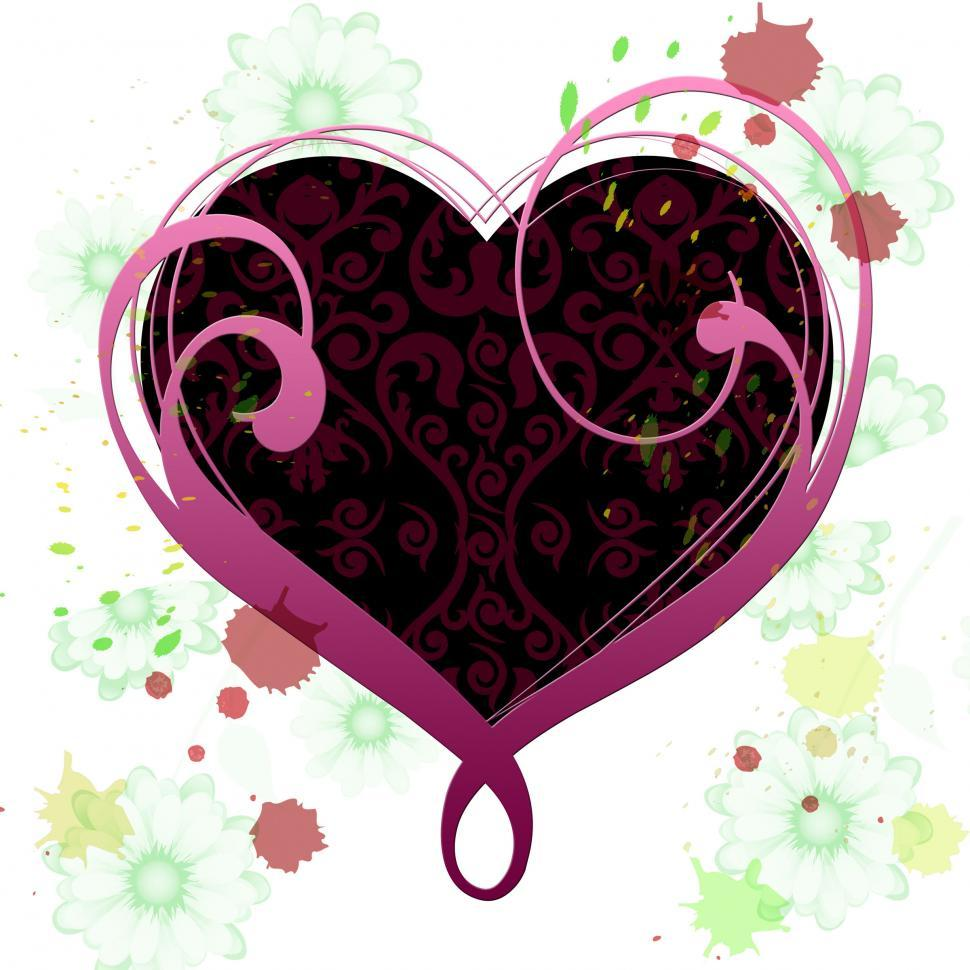 Download Free Stock HD Photo of Heart Background Means Valentines Day And Abstract Online