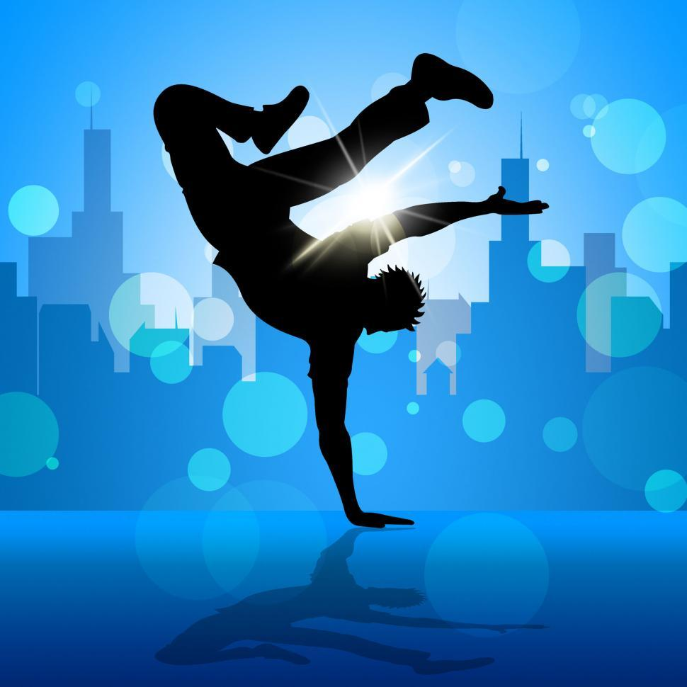 Download Free Stock HD Photo of Break Dancer Indicates Street Dancing And Breakdancing Online