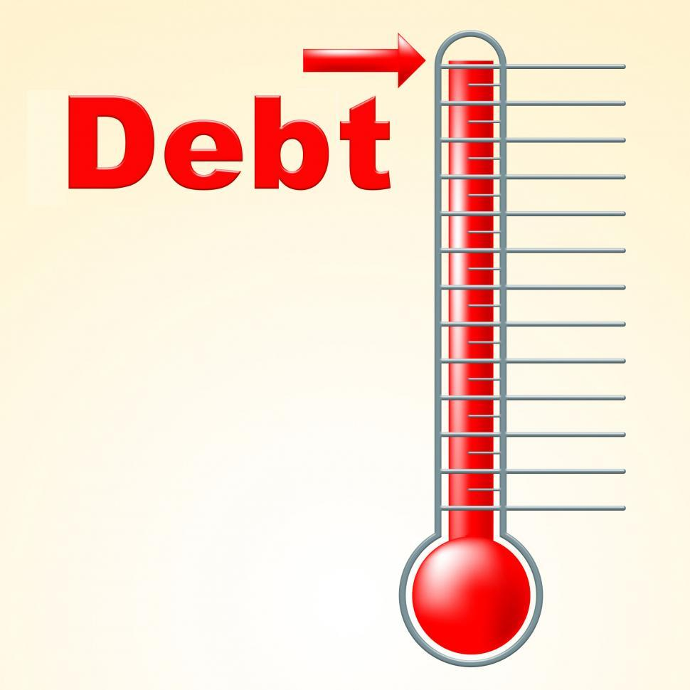 Download Free Stock HD Photo of Thermometer Credit Indicates Debit Card And Banking Online