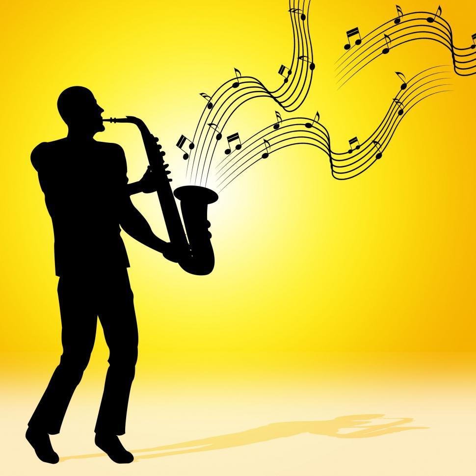 Get Free Stock Photos of Sun Saxophone Means Jazz Music And Acoustic