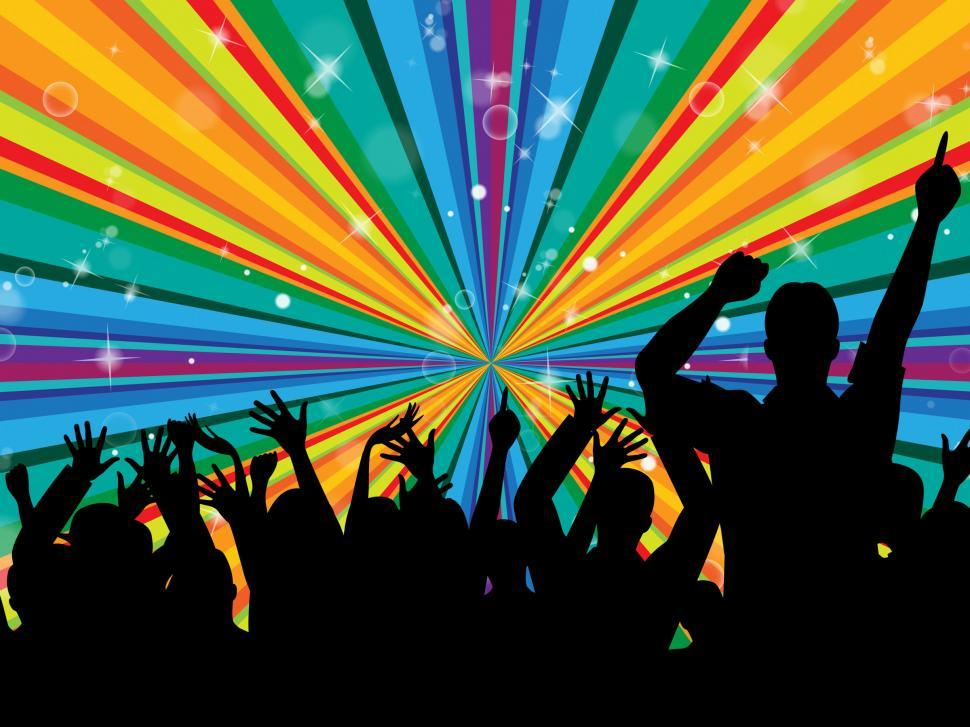 Download Free Stock HD Photo of Dancing Disco Indicates Radiance Beam And Cheerful Online