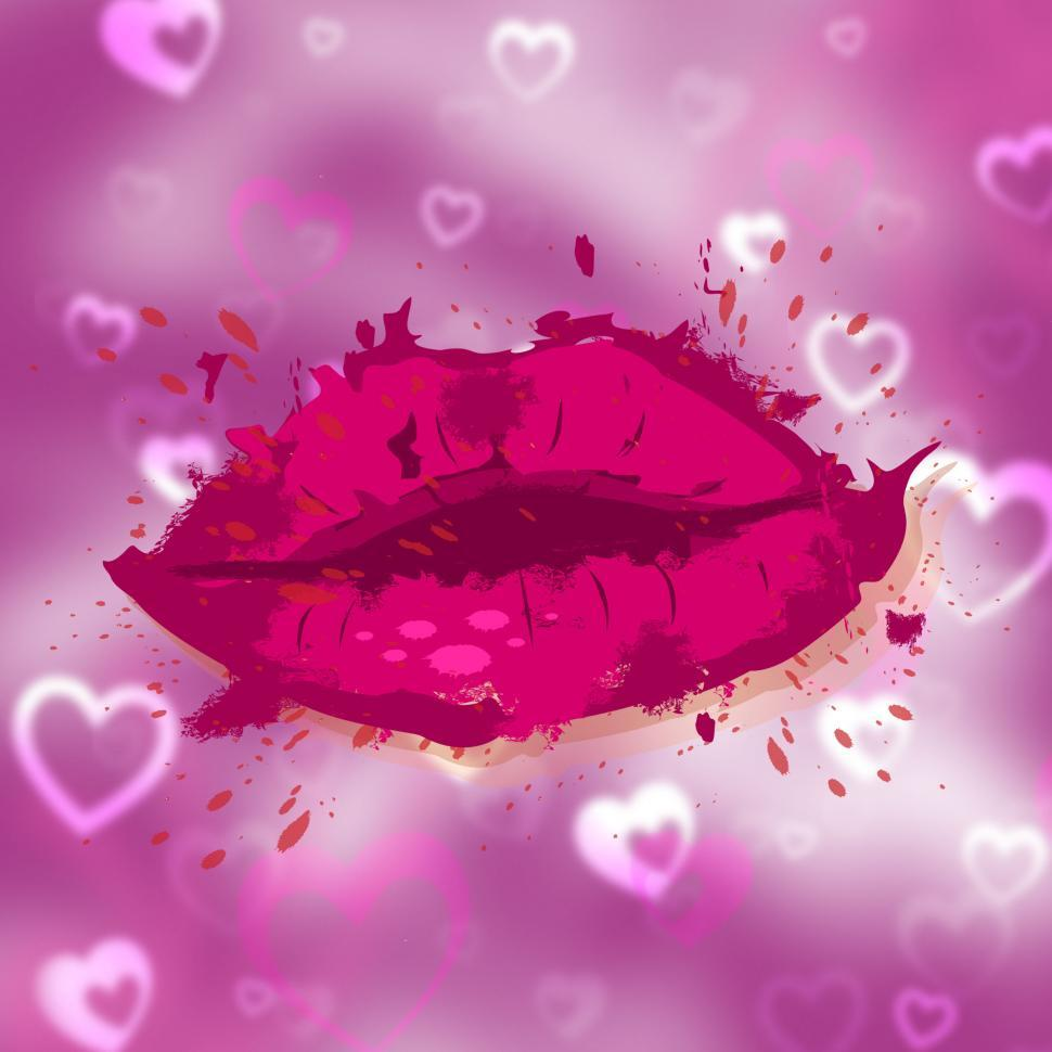 Download Free Stock HD Photo of Beauty Hearts Indicates Human Lips And Face Online