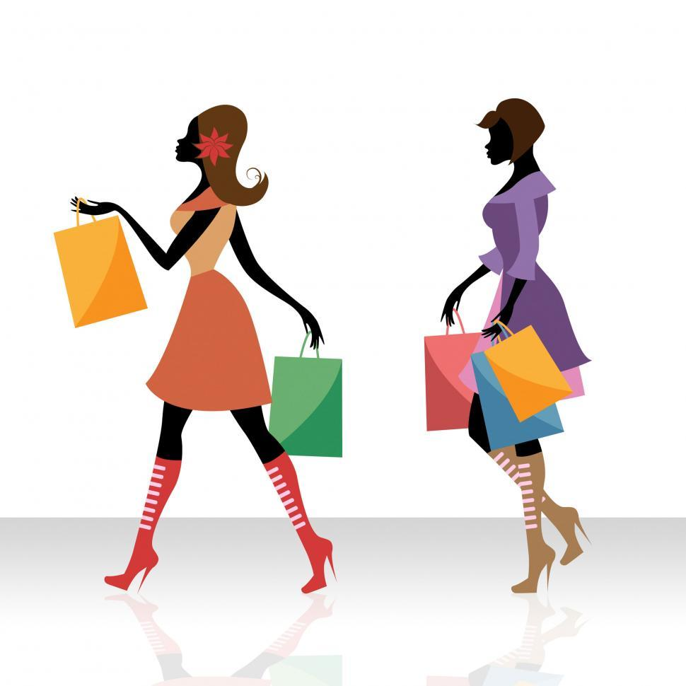 Download Free Stock HD Photo of Women Shopping Indicates Retail Sales And Adult Online