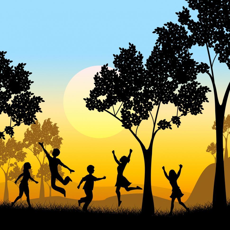 Download Free Stock HD Photo of Playing Tree Represents Kids Youngsters And Childhood Online