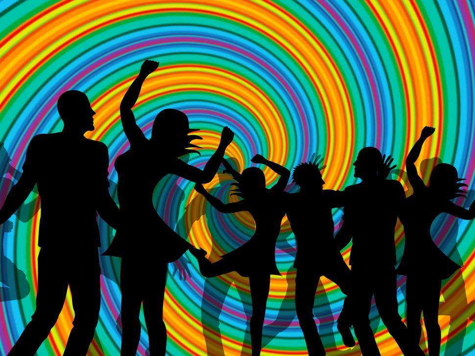 Download Free Stock HD Photo of Disco Party Represents Discotheque Dancing And Nightclub Online