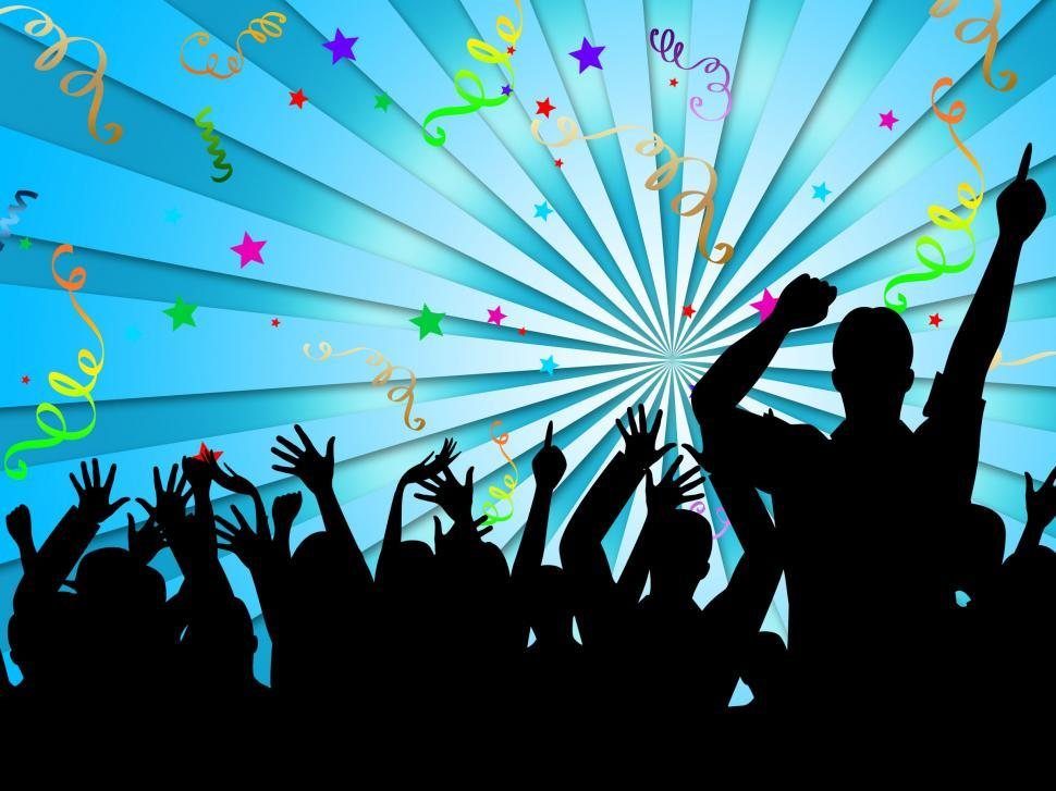 Download Free Stock HD Photo of Party Silhouettes Shows Disco Dancing And Celebration Online