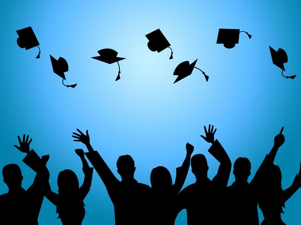 Download Free Stock HD Photo of Education Graduation Indicates Degree Ceremony And Finishing Online