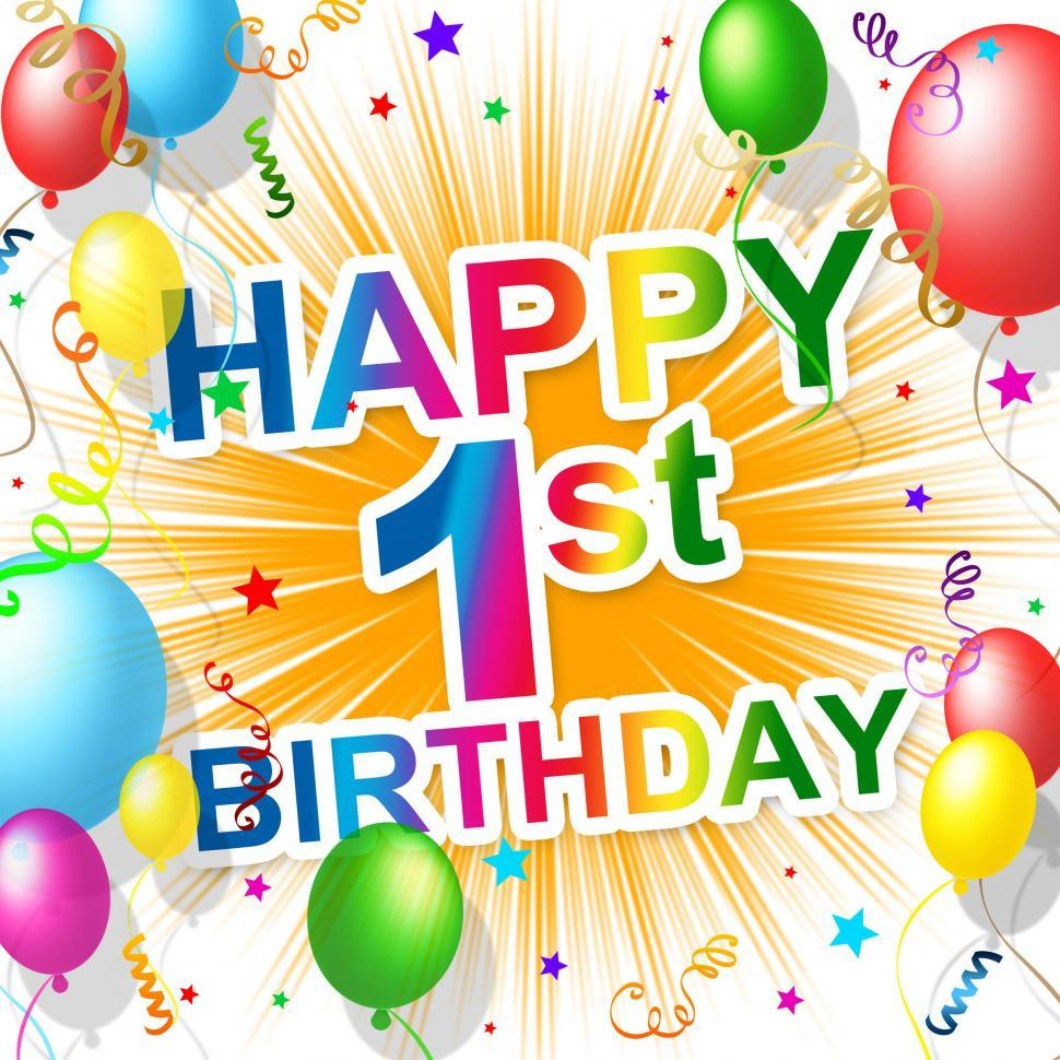 Download Free Stock HD Photo of First Birthday Indicates 1St Celebrate And Happiness Online