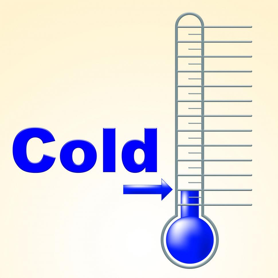 Download Free Stock HD Photo of Cold Thermometer Indicates Thermostat Freeze And Freezing Online