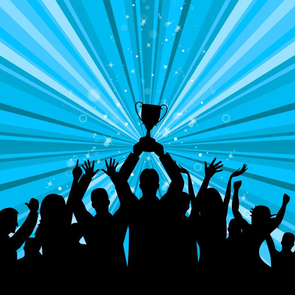 Download Free Stock HD Photo of Celebrate Trophy Represents First Place And Achievement Online
