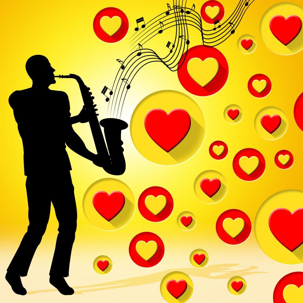 Download Free Stock HD Photo of Saxophone Music Indicates Valentine Day And Acoustic Online
