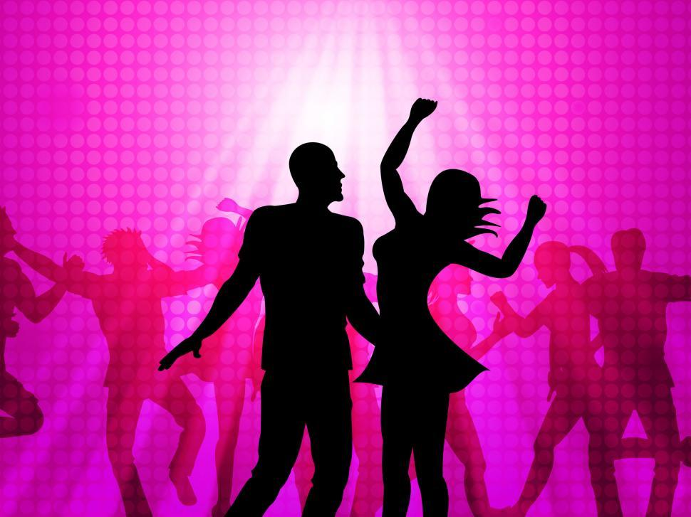 Download Free Stock HD Photo of Disco Dancing Means Parties Celebrations And Fun Online
