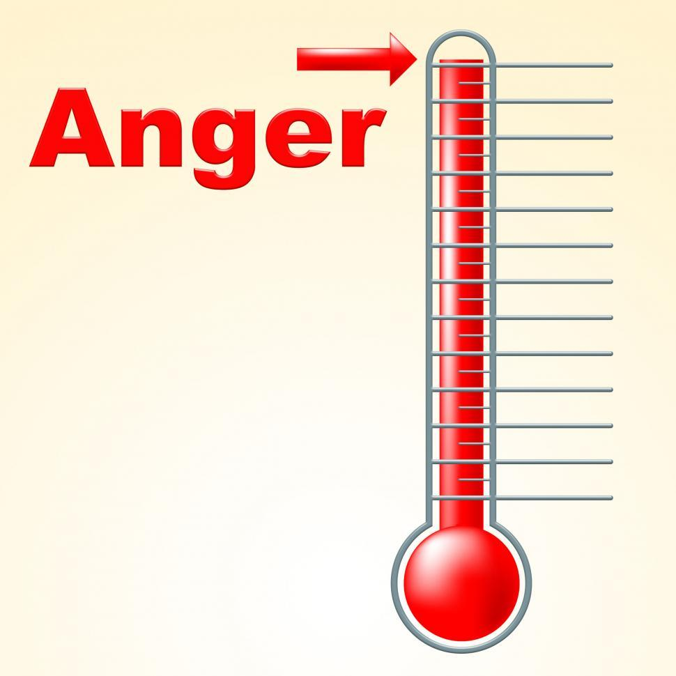 Download Free Stock HD Photo of Anger Thermometer Indicates Cross Irritated And Temperature Online