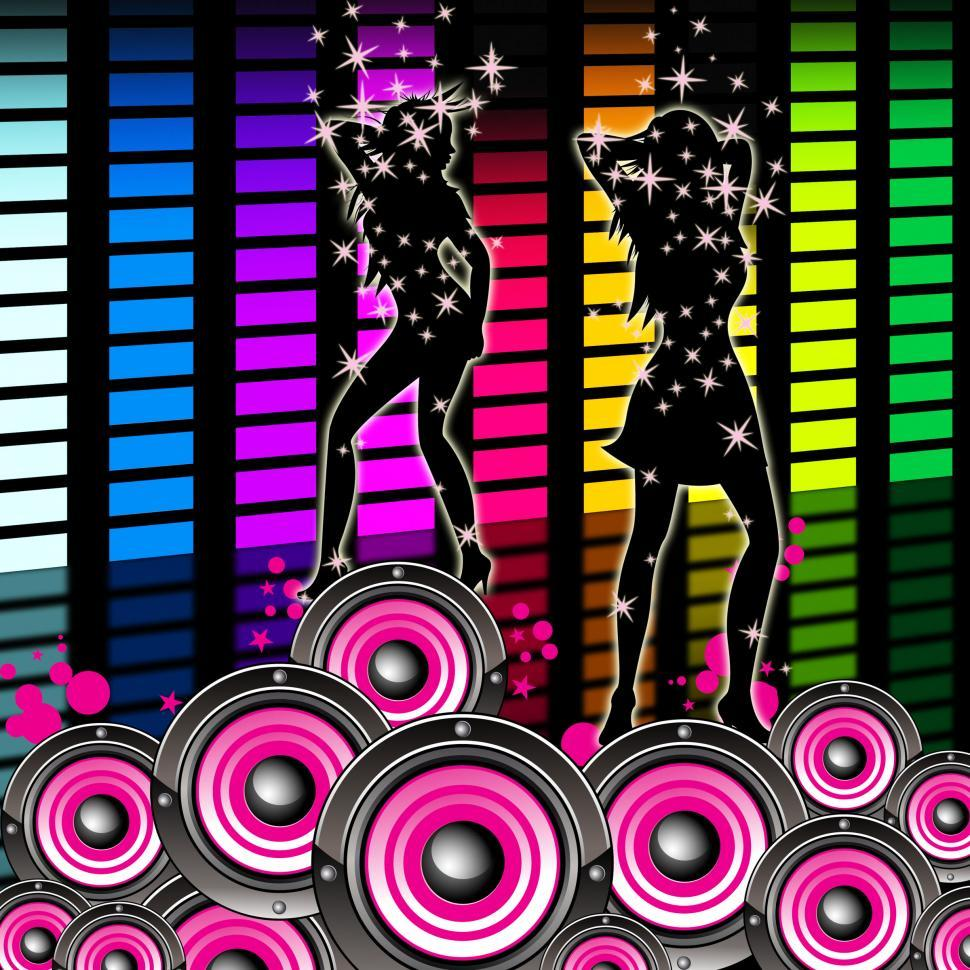 Download Free Stock HD Photo of Dancing Equaliser Means Sound Track And Equalisers Online