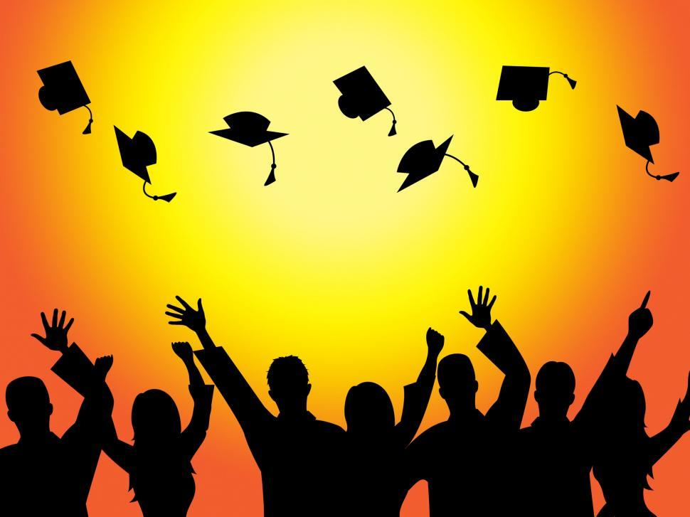 Download Free Stock HD Photo of Graduation Education Means Graduate Diploma And Train Online