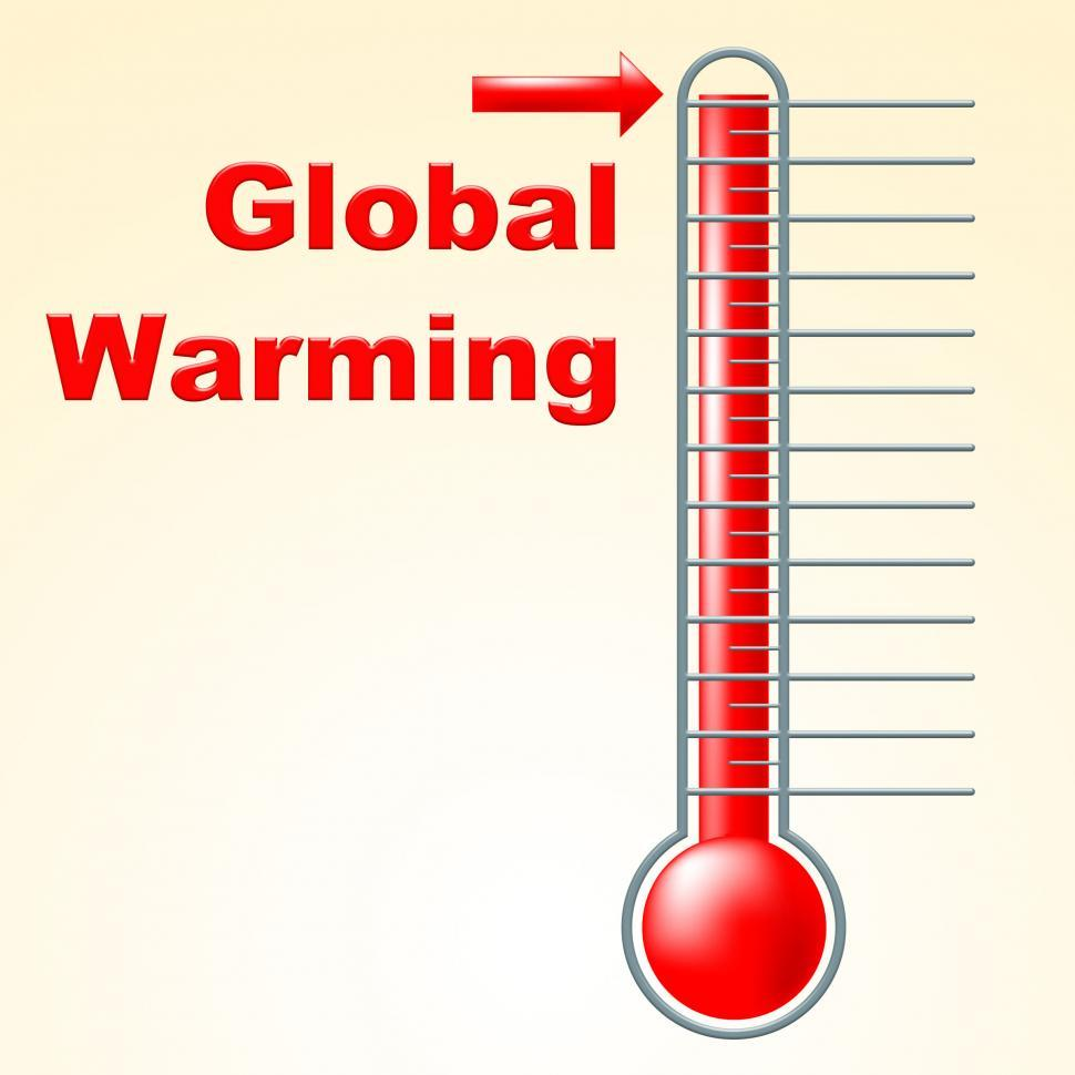 Download Free Stock HD Photo of Global Warming Indicates Fahrenheit Thermometer And Celsius Online