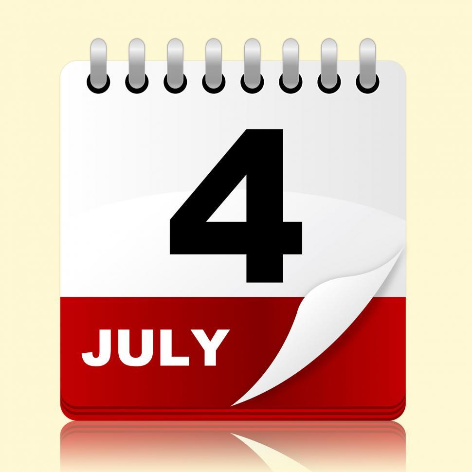 Download Free Stock HD Photo of Fourth July Represents Planning Reminder And Month Online