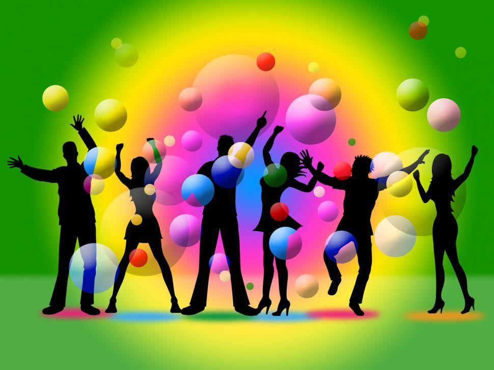 Download Free Stock HD Photo of Disco Silhouette Indicates Togetherness Friends And Together Online