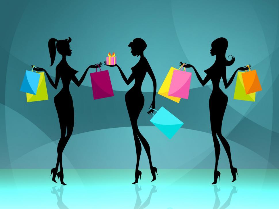 Download Free Stock HD Photo of Women Shopper Means Retail Sales And Adult Online