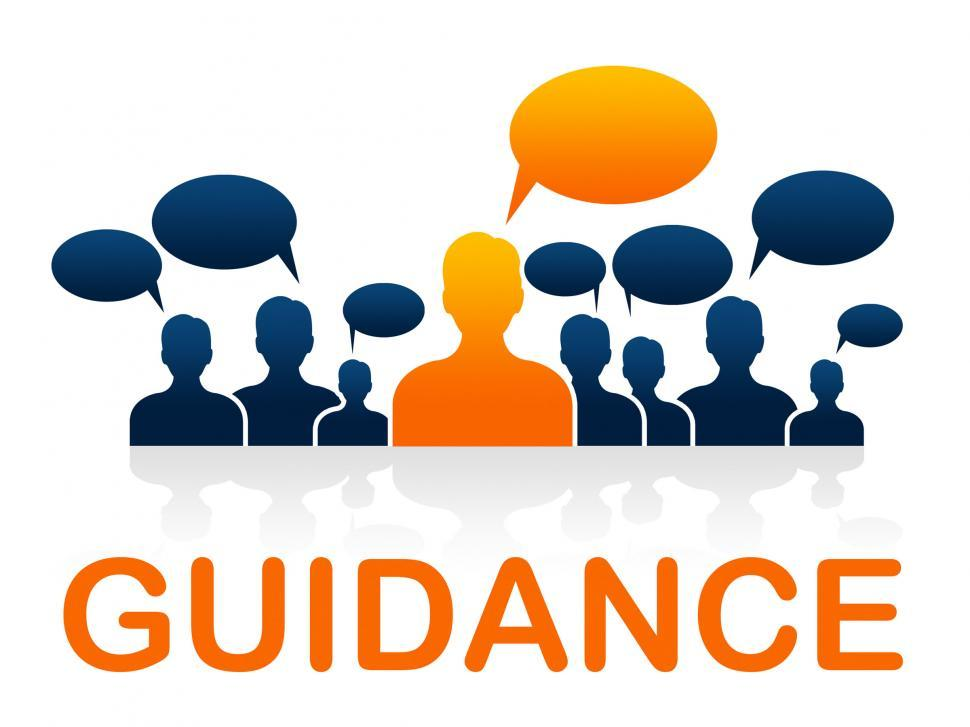 Download Free Stock HD Photo of Leader Guidance Means Guide Instructions And Advice Online