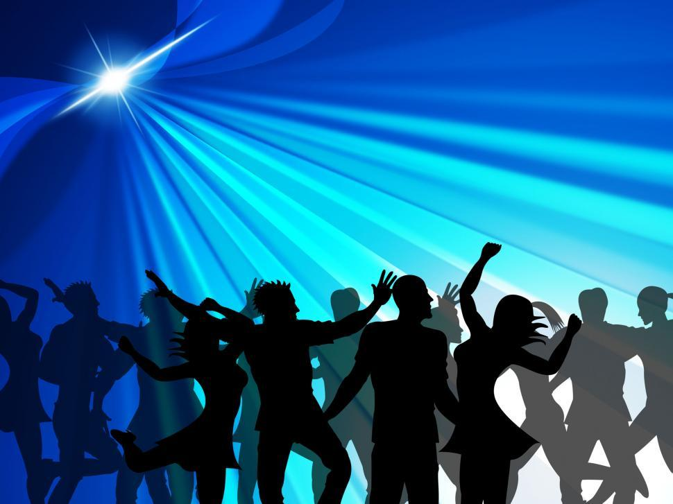 Download Free Stock HD Photo of Dancing Party Indicates Cheerful Nightclub And Celebrate Online