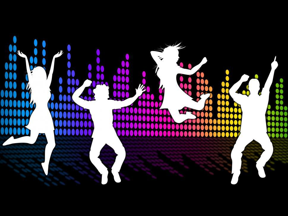 Download Free Stock HD Photo of Dancing Excitement Indicates Sound Track And Soundtrack Online