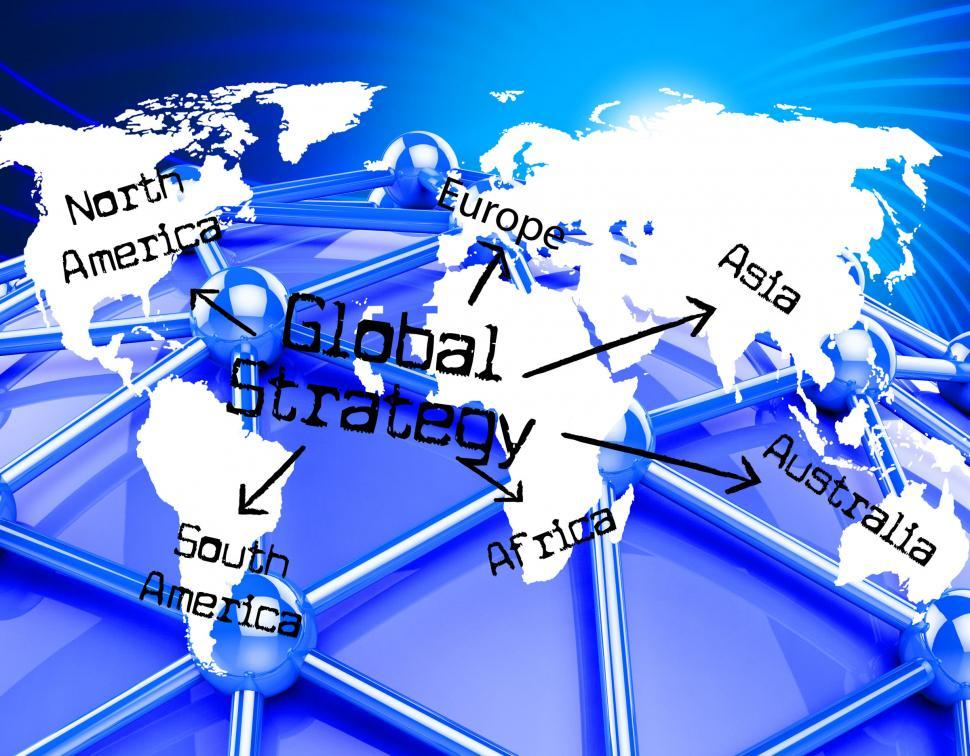 Download Free Stock HD Photo of Global Strategy Means Globalization Globe And Solutions Online