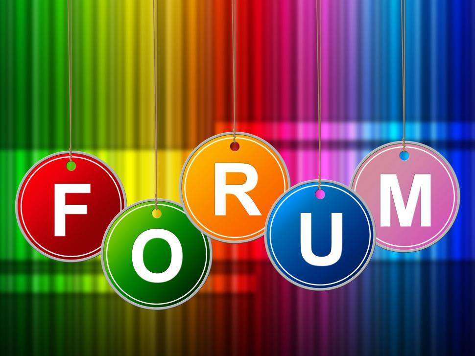 Download Free Stock HD Photo of Forums Forum Means Social Media And Site Online