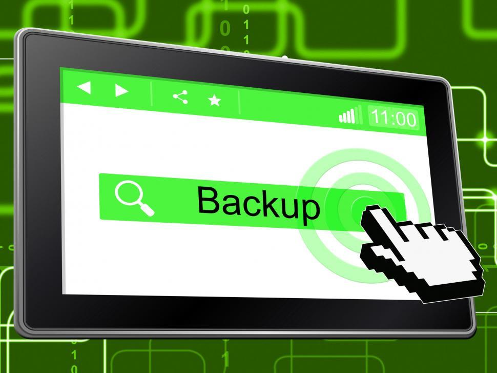 Download Free Stock HD Photo of Backup Online Shows World Wide Web And Archives Online