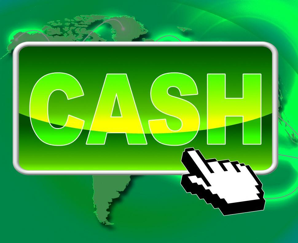 Download Free Stock HD Photo of Cash Button Represents World Wide Web And Websites Online
