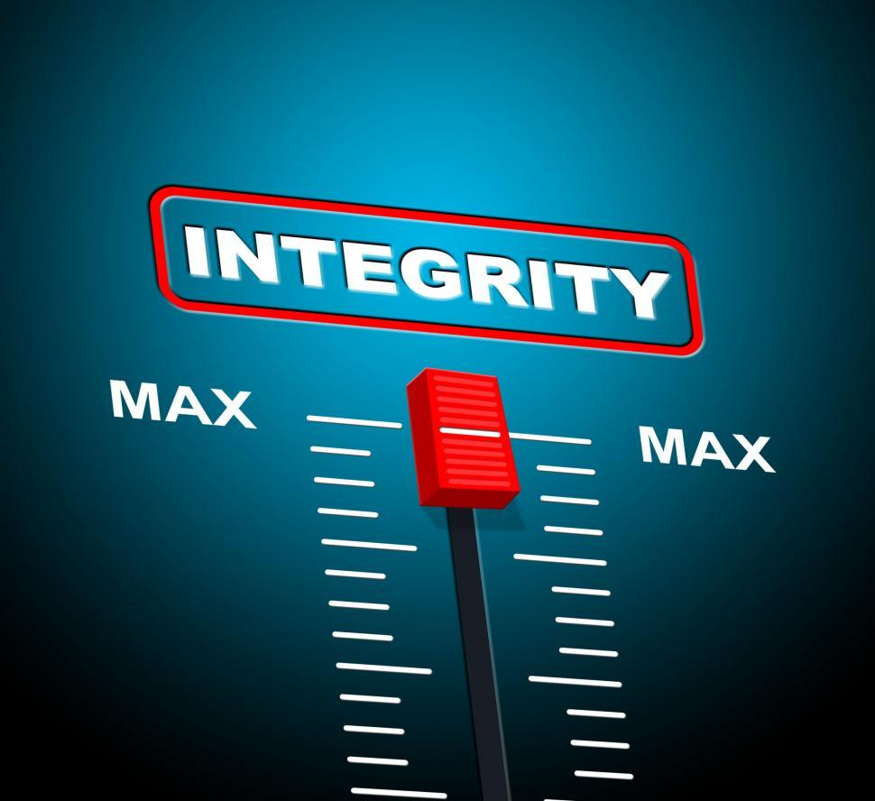 Download Free Stock HD Photo of Integrity Max Means Upper Limit And Sincerity Online