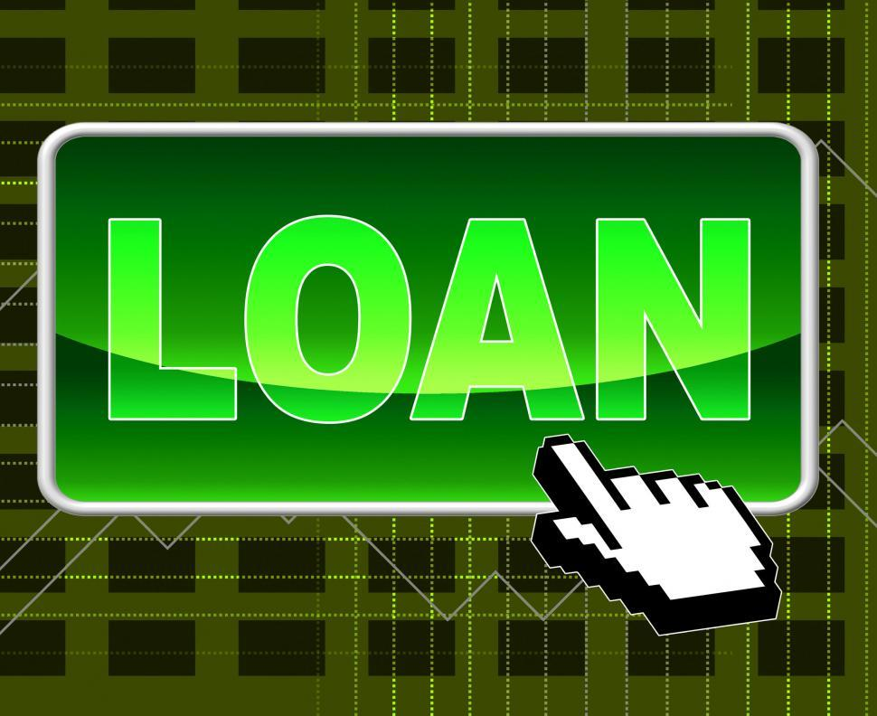 Download Free Stock HD Photo of Loan Button Shows World Wide Web And Loaning Online
