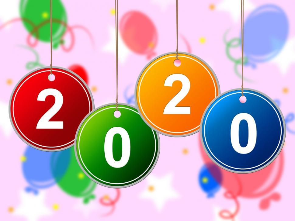 Download Free Stock HD Photo of New Year Means Celebrate Twenty And New-Year Online