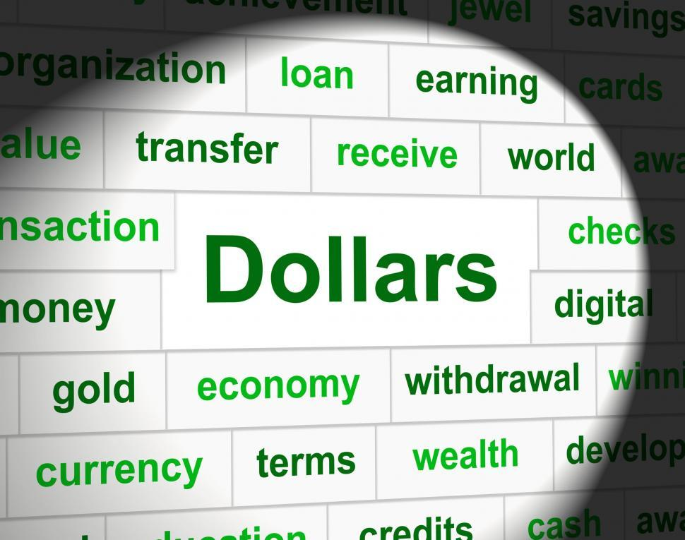 Download Free Stock HD Photo of Dollars Finances Shows Bank Investment And Usd Online