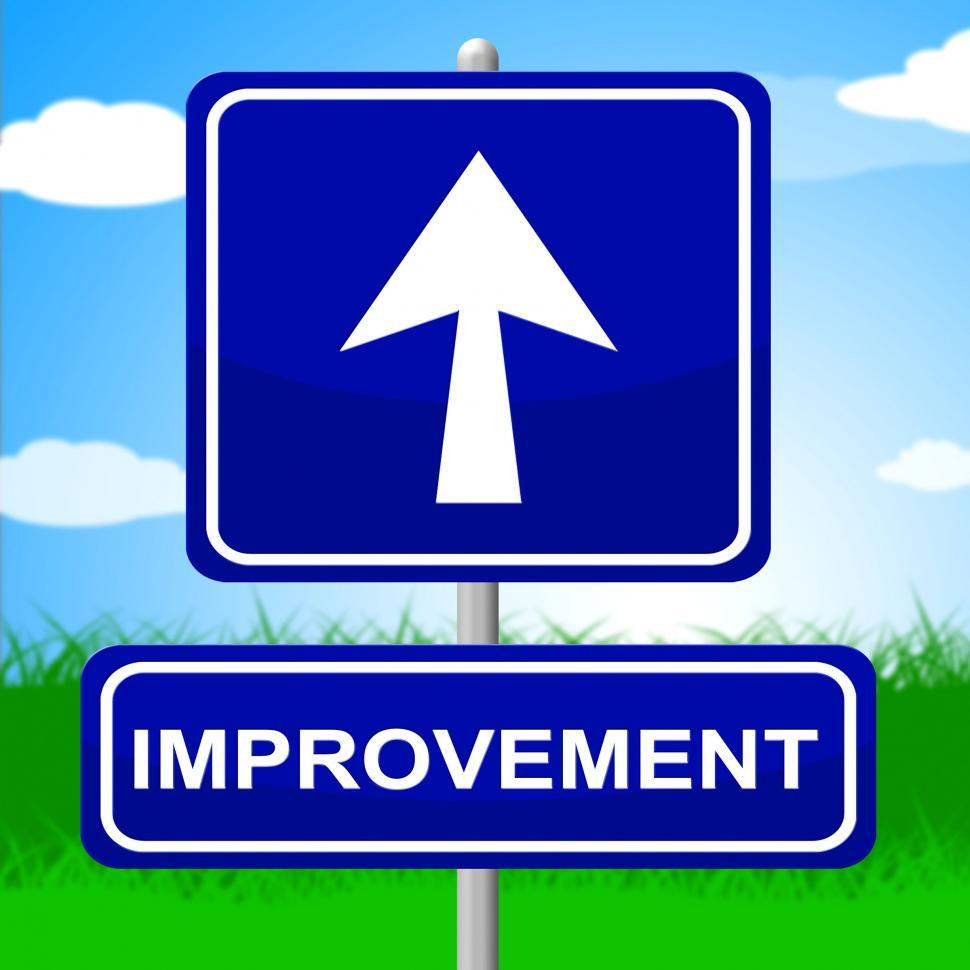 Download Free Stock HD Photo of Improvement Sign Means Upward Progress And Advancing Online