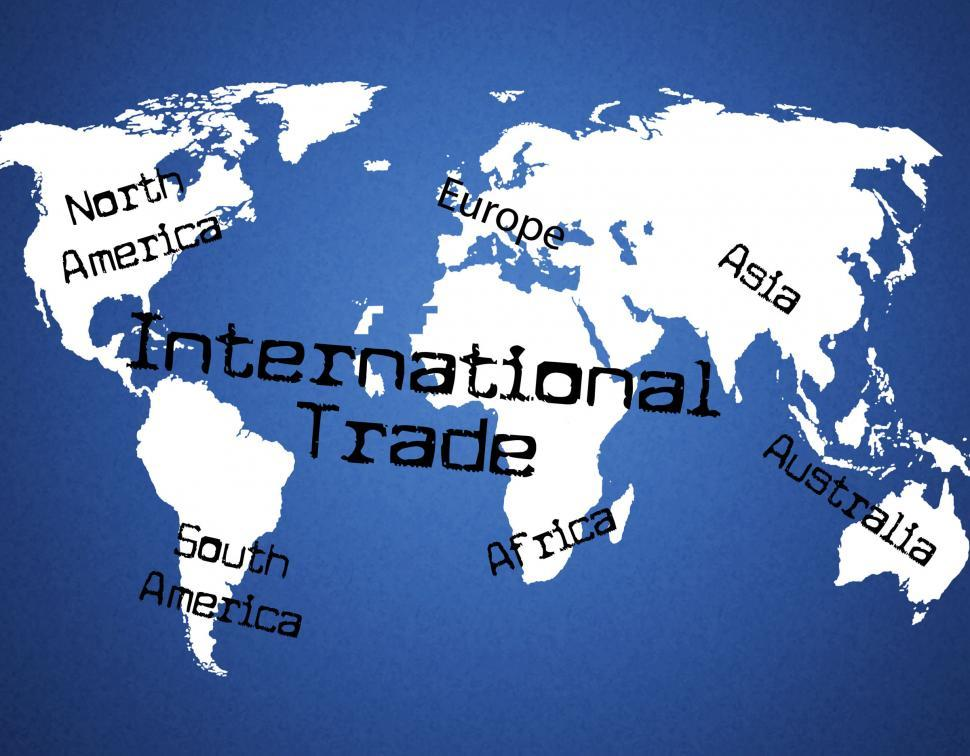 Download Free Stock HD Photo of International Trade Indicates Across The Globe And Commercial Online