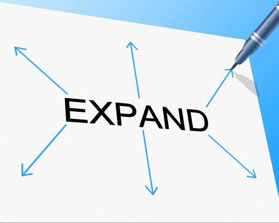 Download Free Stock HD Photo of Big Expand Represents Increase In Size And Enlarge Online